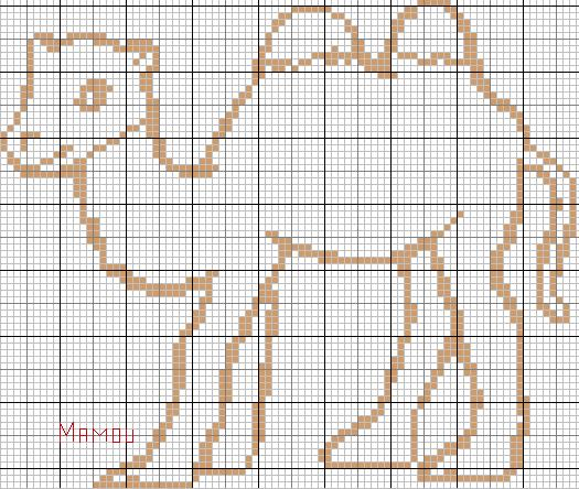 Two-humped Camel - Cross-Stitch