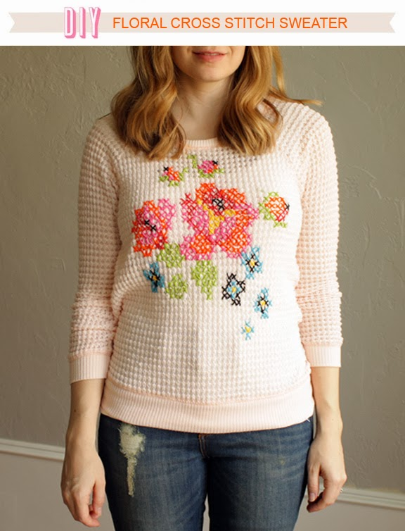 diy-floral-cross-stitch-sweater-modern-primary-embroidery-flower-pink-project-tutorial-refashion-for-less-cheap