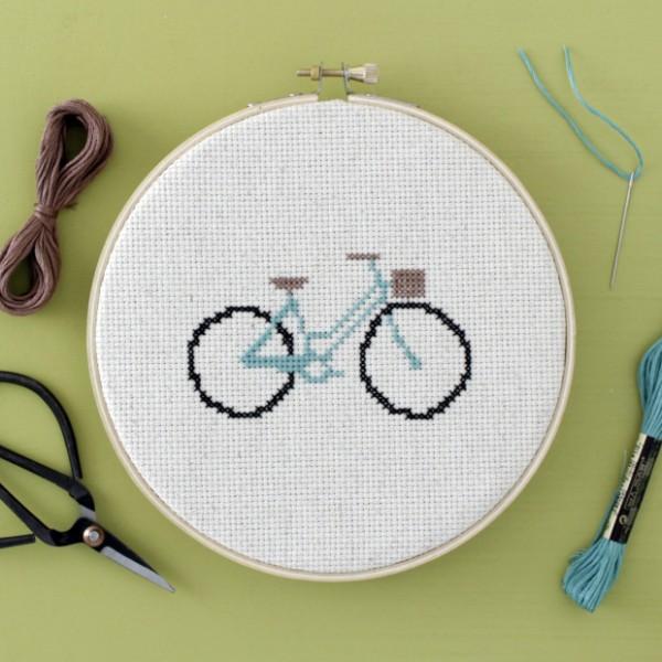bicylce free cross stitch pattern