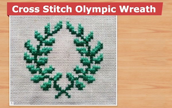 olympic wreath cross stitch