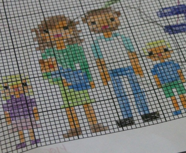 cross stitch your family