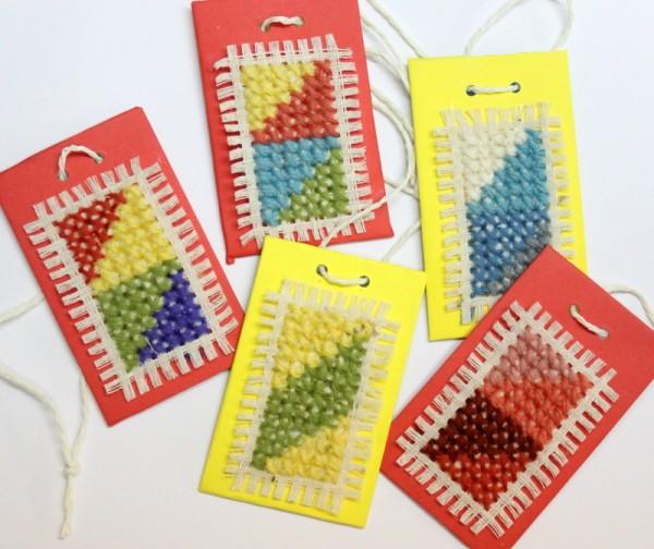 cross stitch luggage tags