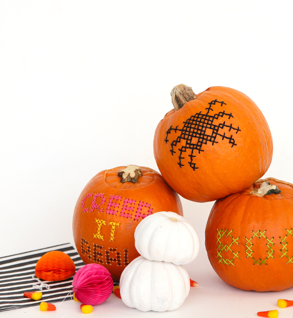 cross stitch pumpkin tutorial