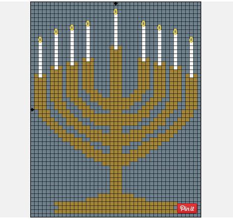 Hanukkahn cross stitch patterns