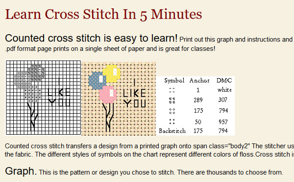 Learn how to cross stitch in five minutes.