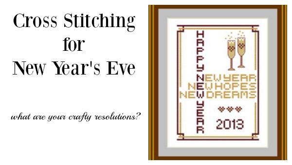 new year's cross stitch chart