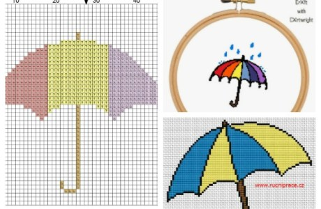 Sweet Umbrella Cross Stitch Patterns