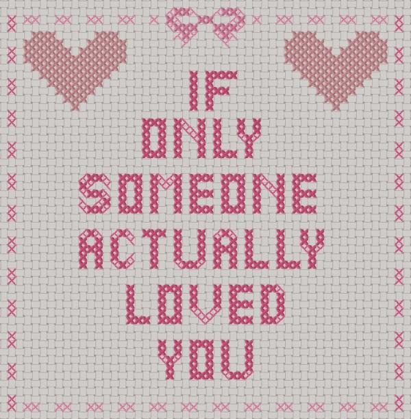 anti-valentine cross stitch pattern