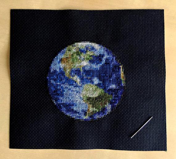 Earth Cross Stitch