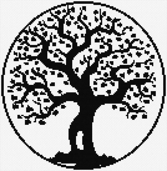Stitch A Lovely Tree Of Life CrossStitch Impressive Tree Of Life Pattern