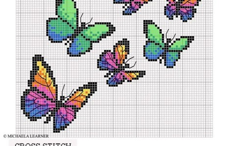 Gorgeous Butterfly Cross-Stitch Chart