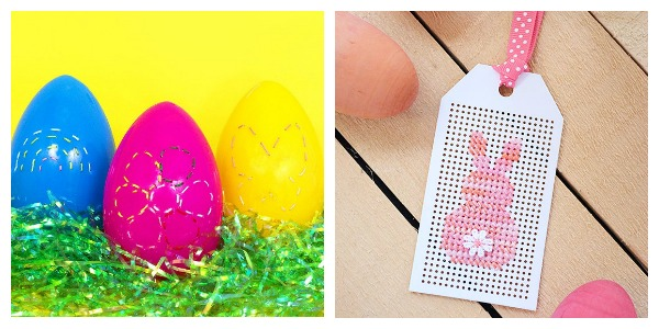 Quick Easter embroidery and cross stitch projects.