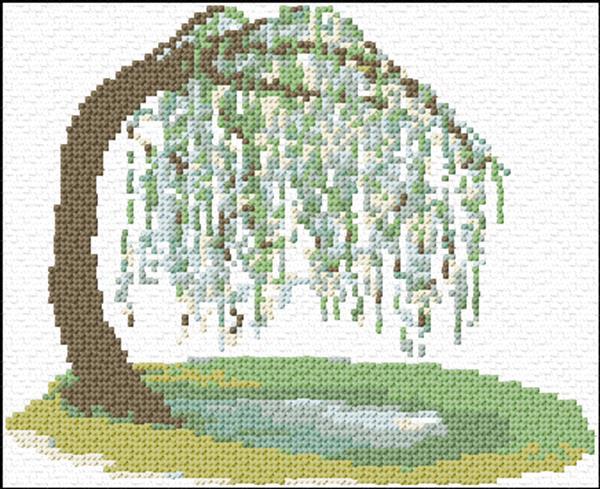 willow tree cross stitch pattern