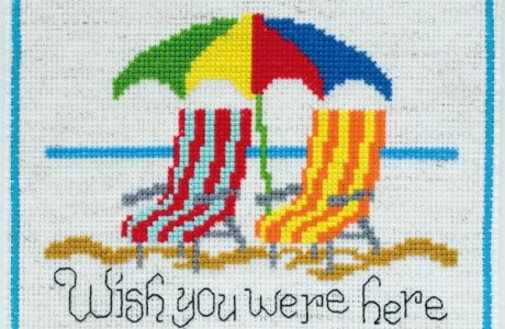 Wish You Were Here Cross Stitch Chart
