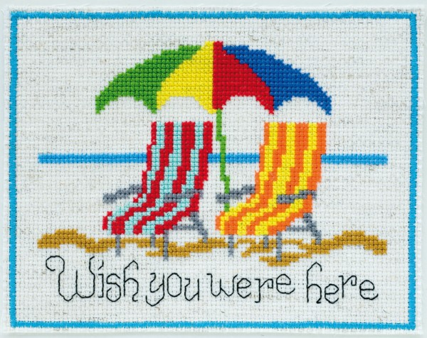 wish you were here cross stitch