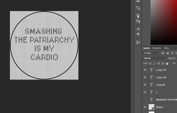 how to design cross stitch charts in photoshop