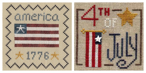 July 4 cross stitch patterns from Glory Bee.