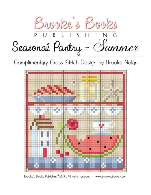 summer pantry cross stitch pattern
