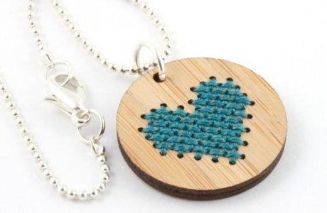 Use a Kit to Cross Stitch a Piece of Jewelry