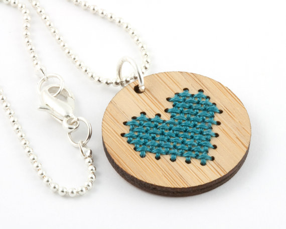 check out this kit to make your own cross stitch jewelry