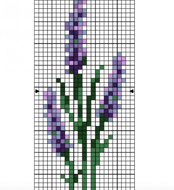 lavender cross stitch patterns
