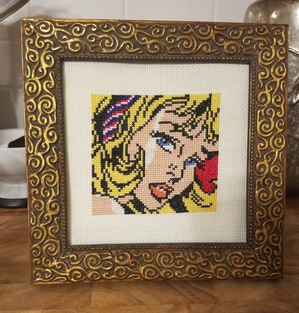 roy lichtenstein cross stitch