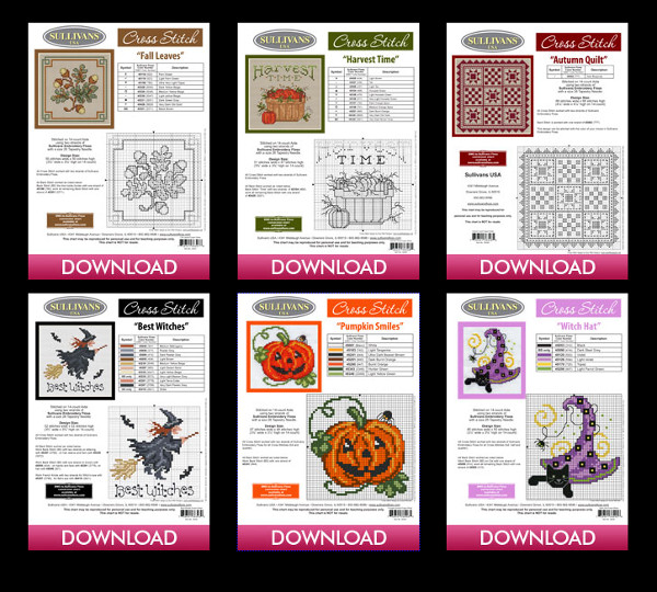 fall cross stitch patterns from sullivans
