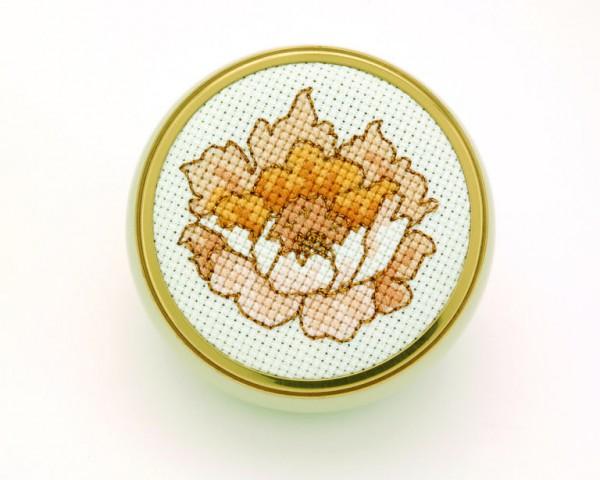peony cross stitch pattern