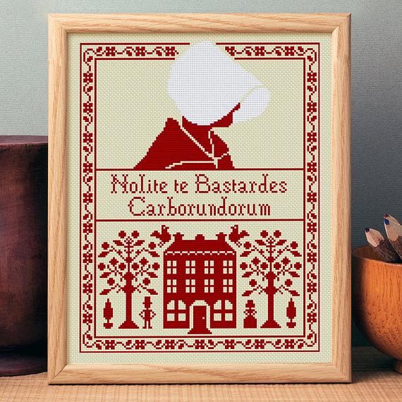 handmaid's tale cross stitch