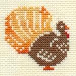 turkey cross stitch pattern