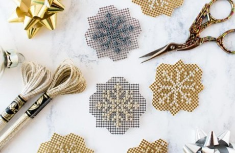 Stitch Some Gorgeous Metallic Snowflakes