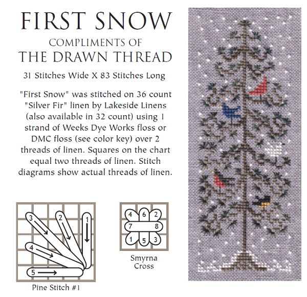 Celebrate Winter with Free Patterns from The Drawn Thread