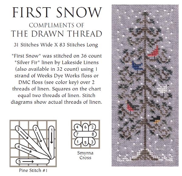 first snow cross stitch pattern