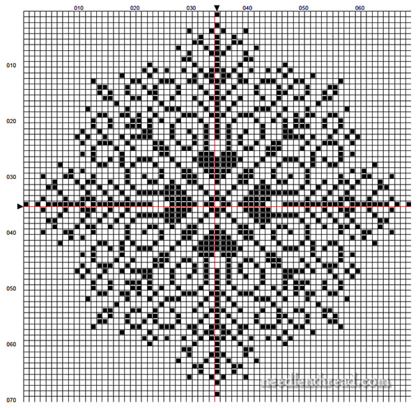large snowflake cross stitch pattern