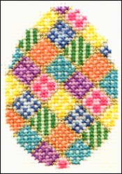 patchwork egg cross stitch