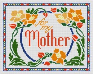 Stitched Flowers for Mom or Grandma