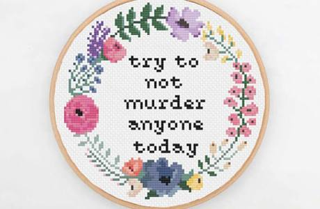 A Little Monday Motivation to Cross Stitch