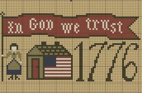 In God We Trust Cross Stitch