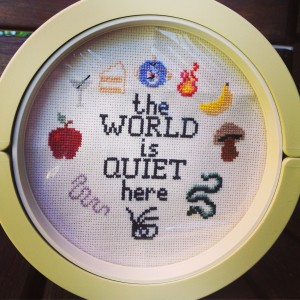 series of unfortunate events cross stitch