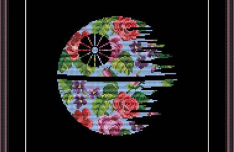 Check out These Amazing Floral Star Wars Cross Stitch Patterns