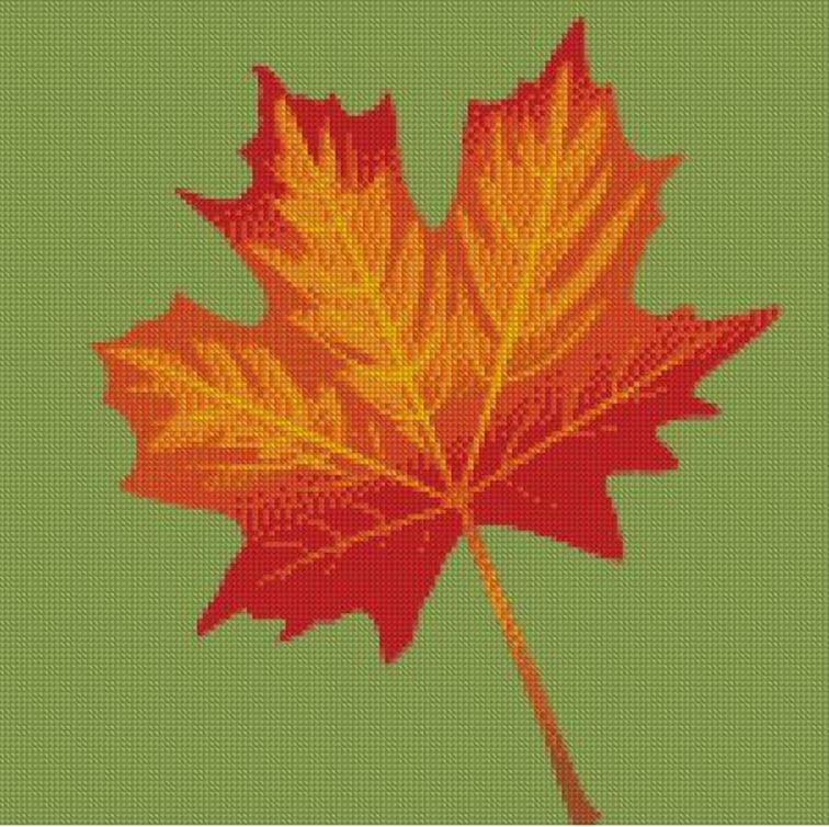 maple leaf cross stitch pattern