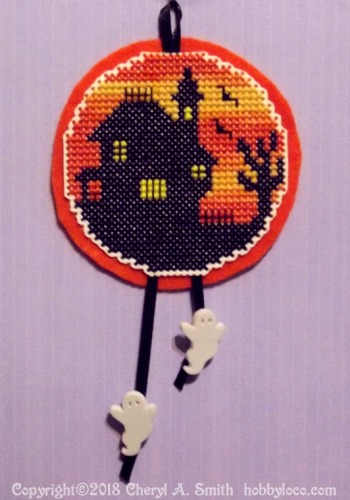 spooky old house cross stitch