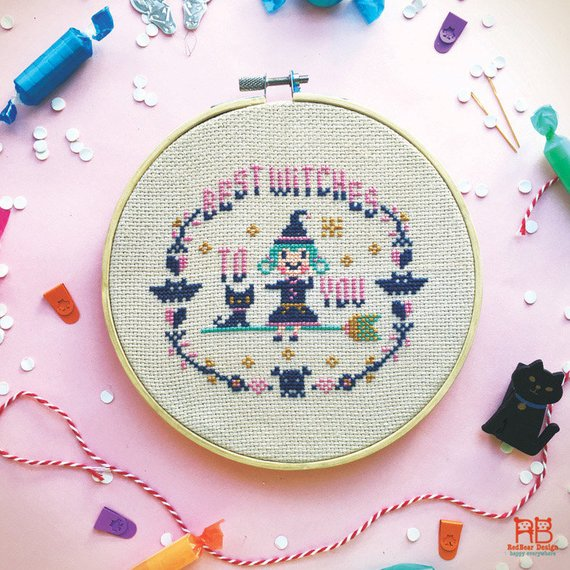 best witches cross stitch pattern