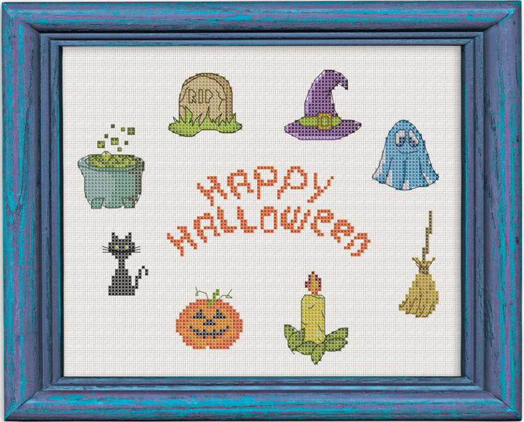 halloween icon cross stitch