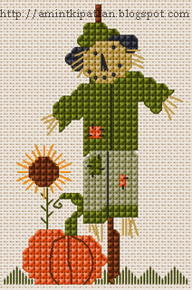 A Sweet Fall Scarecrow to Stitch