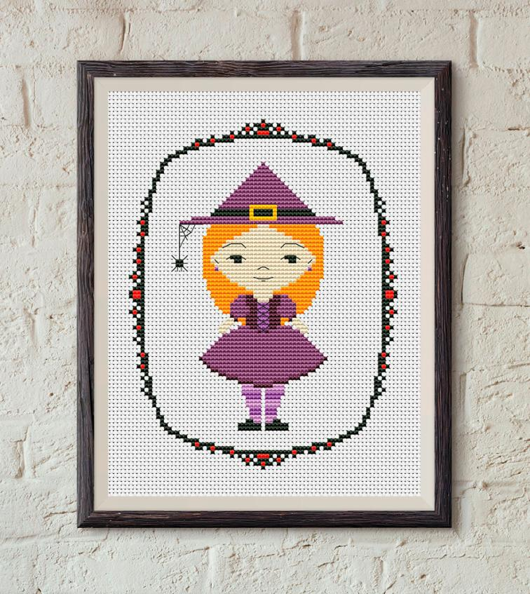 witch cross stitch pattern