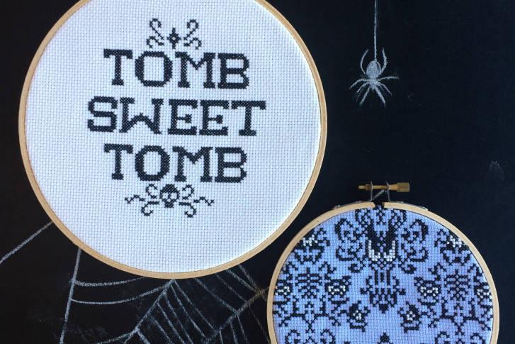 haunted mansion cross stitch