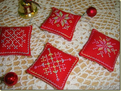 snowflake ornaments cross stitch