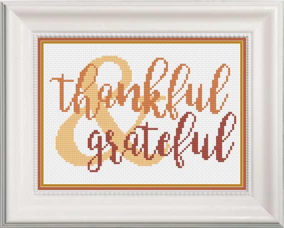 thankful cross stitch