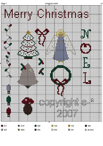 mini christmas cross stitch